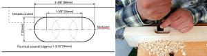 Kitarri küljel heli valjususe potentsiomeetri ja väljundpesa süvendi valmistamine